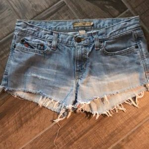 Abercrombie & Fitch Shorts - Abercrombie and Fitch distressed denim shorts sz 2
